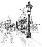 Charles Bridge - Praag, Tsjechische Republiek Royalty-vrije Stock Afbeelding