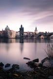 Charles Bridge in Praag, Tsjechische Republiek Stock Afbeelding