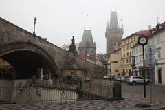 Charles Bridge in Praag, Tsjechische Republiek Royalty-vrije Stock Afbeelding