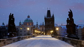 Charles Bridge in Prag stock video