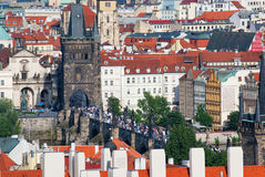 Charles Bridge in Prag Lizenzfreies Stockbild