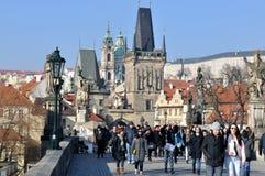 Charles Bridge, Prag Stockbild