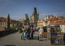Charles Bridge, Prag Stockbild