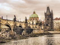 Charles Bridge a Praga Immagini Stock