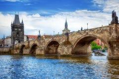 Charles Bridge, Praga Fotografie Stock