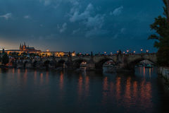 Charles Bridge a Praga Immagine Stock