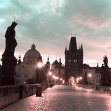 Charles Bridge a Praga Immagini Stock Libere da Diritti