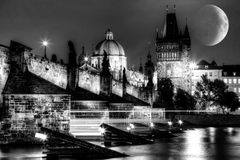 Charles Bridge a Praga Fotografia Stock Libera da Diritti