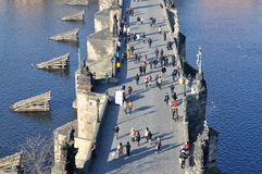 Charles Bridge, Praga Immagini Stock Libere da Diritti