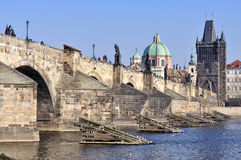 Charles Bridge, Praga Immagine Stock