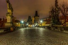 Charles Bridge, Praga, Czechia foto de stock royalty free