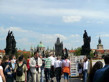 Charles Bridge in Prague Royalty Free Stock Image