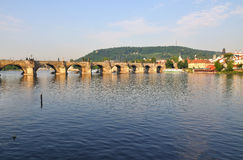 Charles Bridge in Prague. Royalty Free Stock Images