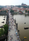 The Charles Bridge in Prague Stock Photos