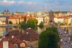Charles Bridge in Prague. (Czech Republic Stock Image