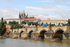 Charles Bridge in Prague Stock Image