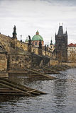 Charles bridge in Prague. Charles Bridge in the historic centre of the city of Prague Royalty Free Stock Photo