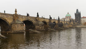 Charles Bridge from Prague Royalty Free Stock Photos