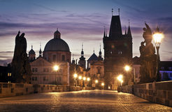 Charles Bridge in Prague Royalty Free Stock Images