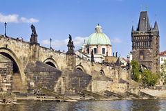 Charles Bridge in Prague Stock Images