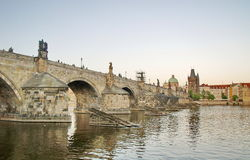 Charles Bridge of Prague Stock Photography