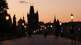 Charles Bridge in Prague Royalty Free Stock Photography