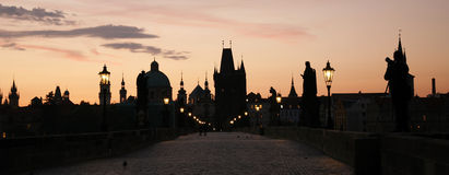 Charles Bridge in Prague Royalty Free Stock Photos