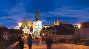 Charles Bridge Prague Arkivbilder