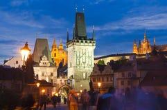 Charles Bridge Prague Royaltyfri Bild