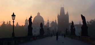 Charles bridge - prague Royalty Free Stock Image