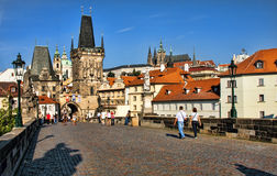 Charles Bridge in Prague. Stock Photo