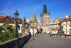 Charles Bridge in Prague. Royalty Free Stock Image
