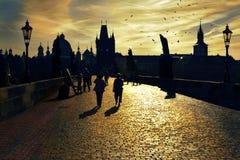Charles Bridge in Prague. Royalty Free Stock Images