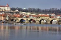 The Charles Bridge in Prague Royalty Free Stock Images