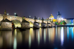 Charles Bridge in Prague, capital of Czech republic Stock Images