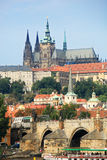 Charles Bridge and Prague Castle Stock Photography