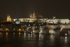 Charles Bridge and Prague Castle Stock Image