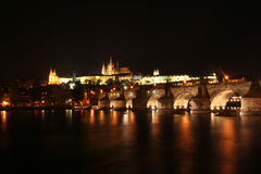 Charles Bridge and Prague Castle Stock Photos