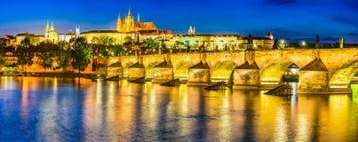 Charles Bridge, Prague Castle, Czech Republic Royalty Free Stock Images