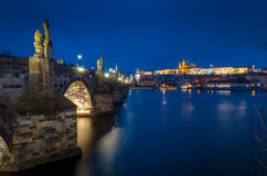 Charles Bridge and Prague Castle Royalty Free Stock Photos