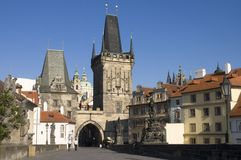 Charles Bridge, Prague, Czech Royalty Free Stock Photography