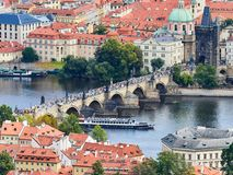 Charles bridge, Prague, Czech Republic.  Stock Images