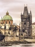 Charles Bridge in Prague. Charles Bridge, Prague, Czech Republic Royalty Free Stock Image