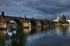 Charles bridge in Prague in Czech republic 2 Stock Photos