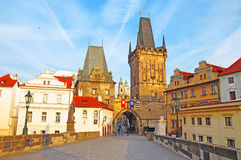Charles Bridge, Prague, Czech Republic. The morning at Charles Bridge, Prague, Czech Republic Royalty Free Stock Photography