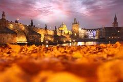 Charles Bridge in Prague, Czech Republic Stock Images