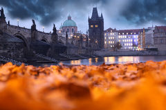 Charles Bridge in Prague, Czech Republic Royalty Free Stock Photography