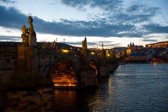 The Charles Bridge, Prague, Czech Republic. The Charles Bridge (Czech: Karlův most) at evening, Prague, Czech Republic Royalty Free Stock Photography