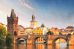 Charles bridge in Prague, Czech republic Stock Photography