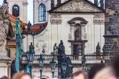 Charles Bridge in Prague Stock Photo